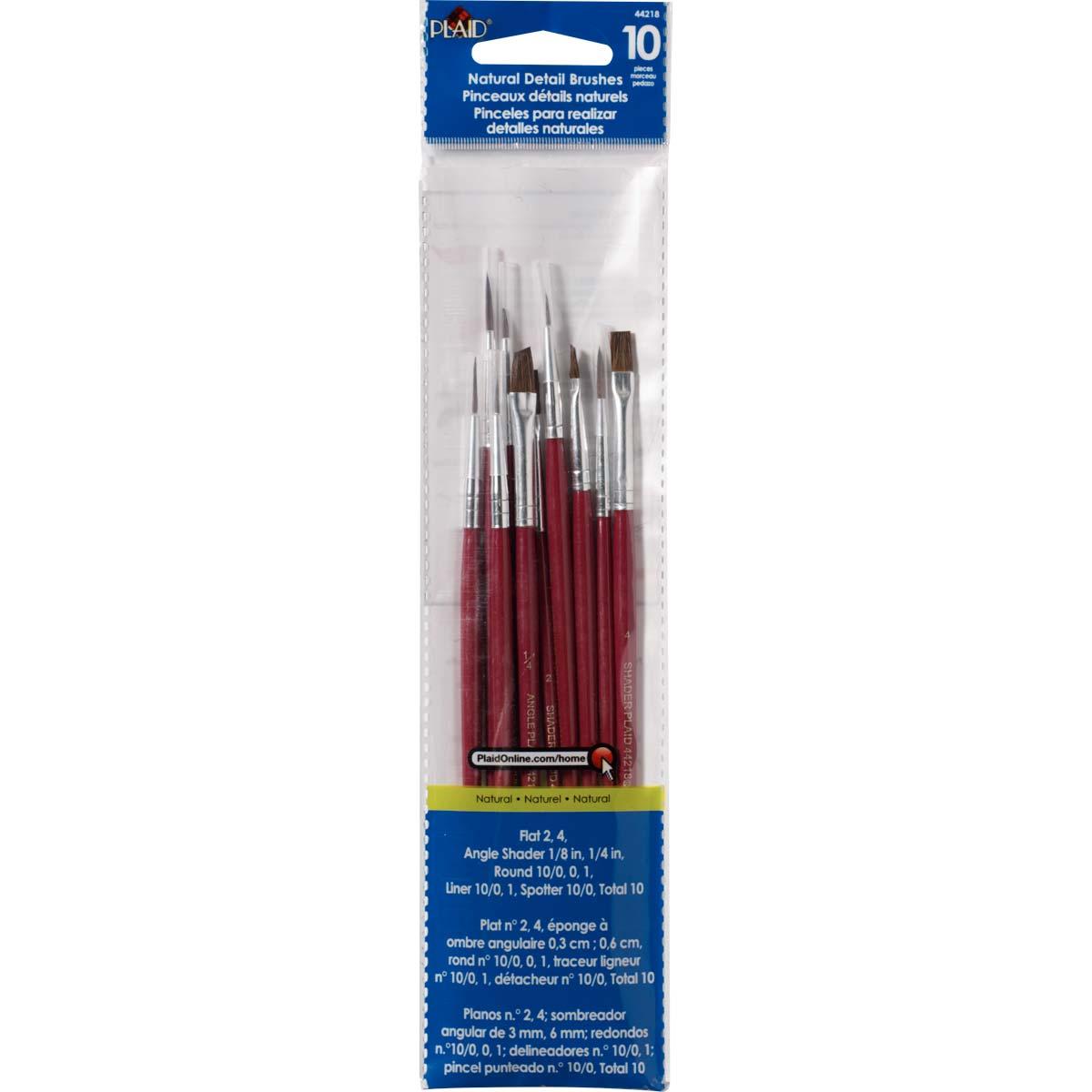 Plaid ® Brush Sets - Wood Brush Set, Details - 44218