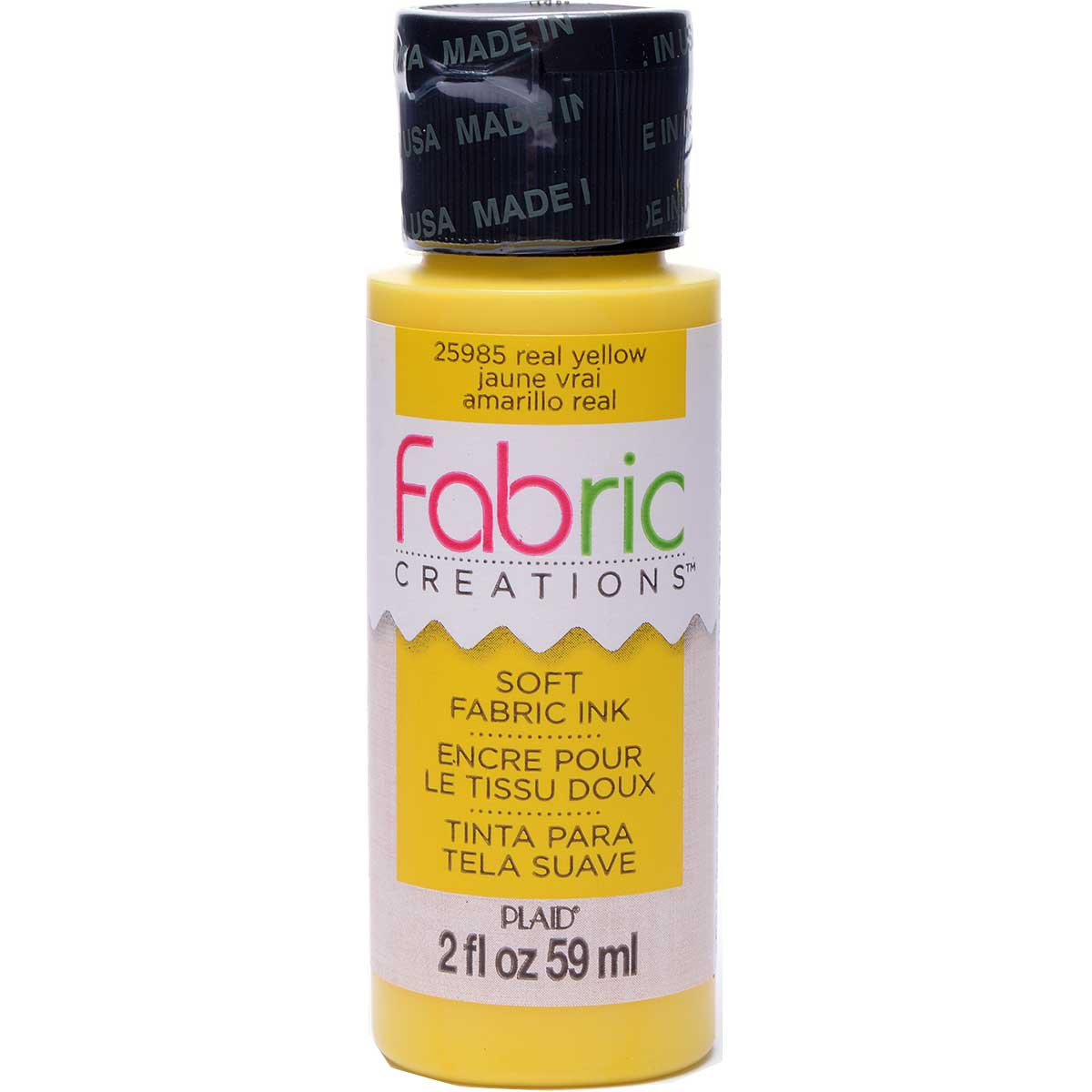Fabric Creations™ Soft Fabric Inks - Real Yellow, 2 oz. - 25985