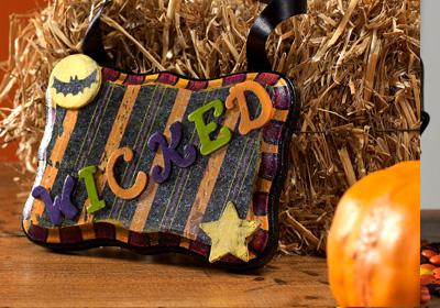 Halloween Wicked Plaque