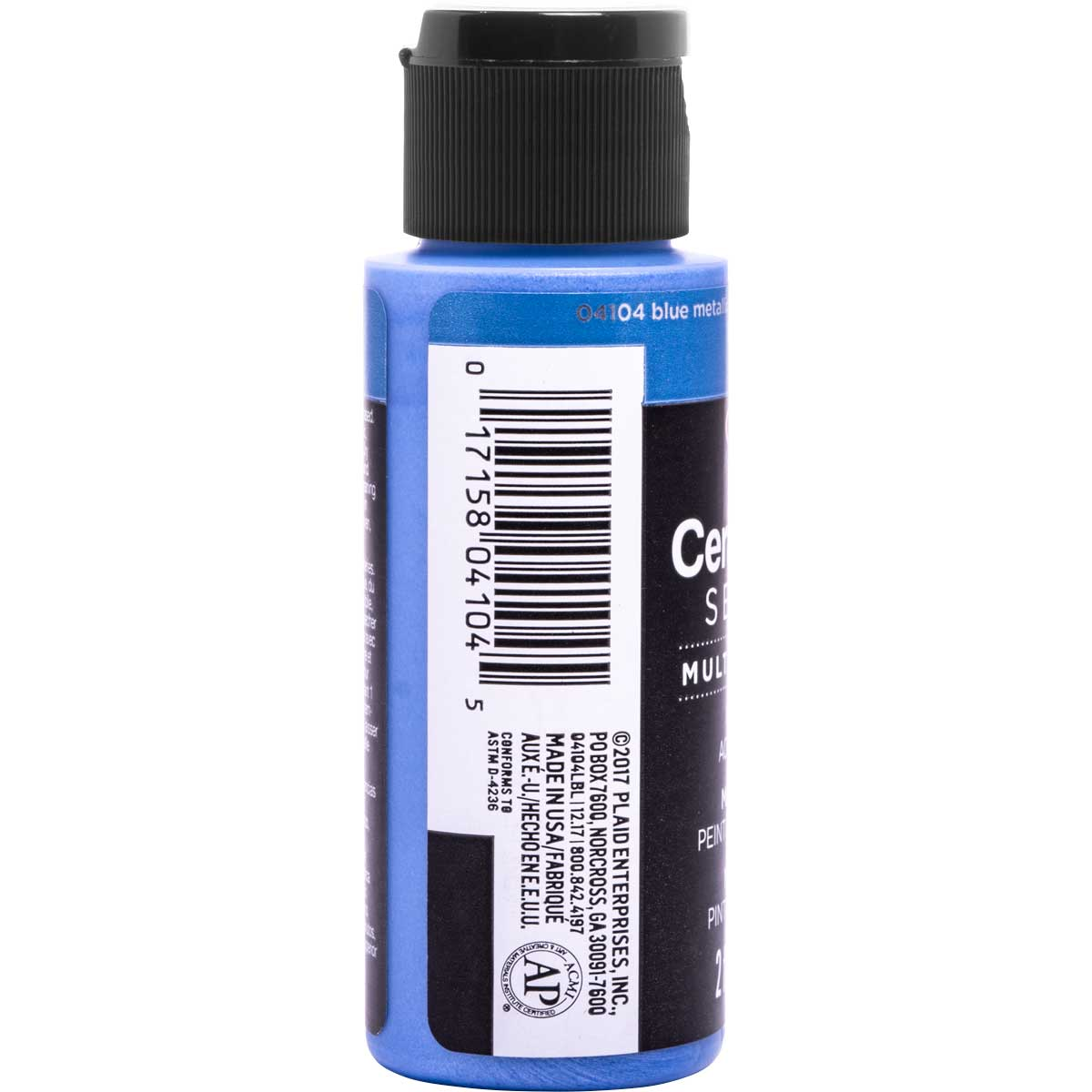 Delta Ceramcoat ® Select Multi-Surface Acrylic Paint - Metallic - Blue, 2 oz. - 04104