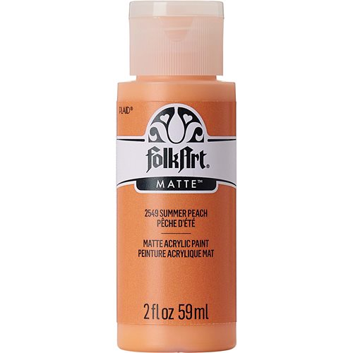 FolkArt ® Acrylic Colors - Summer Peach, 2 oz. - 2549