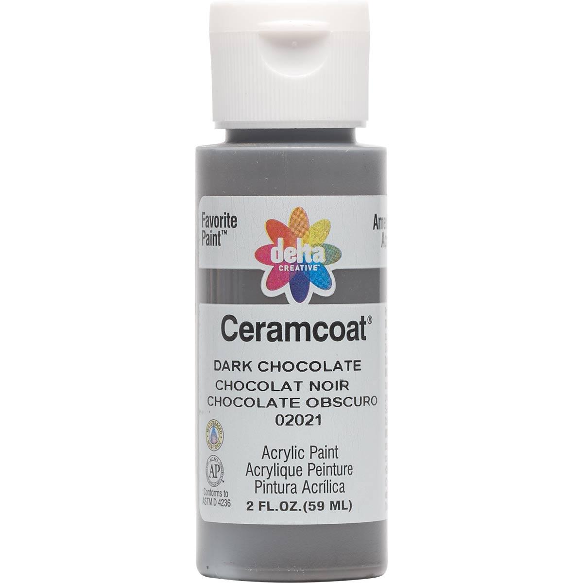 Delta Ceramcoat ® Acrylic Paint - Dark Chocolate, 2 oz.