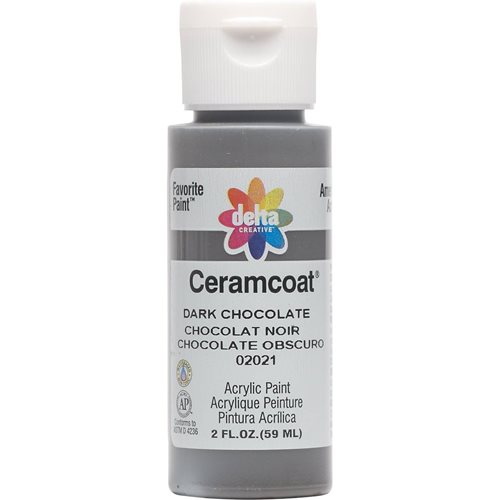 Delta Ceramcoat ® Acrylic Paint - Dark Chocolate, 2 oz. - 020210202W