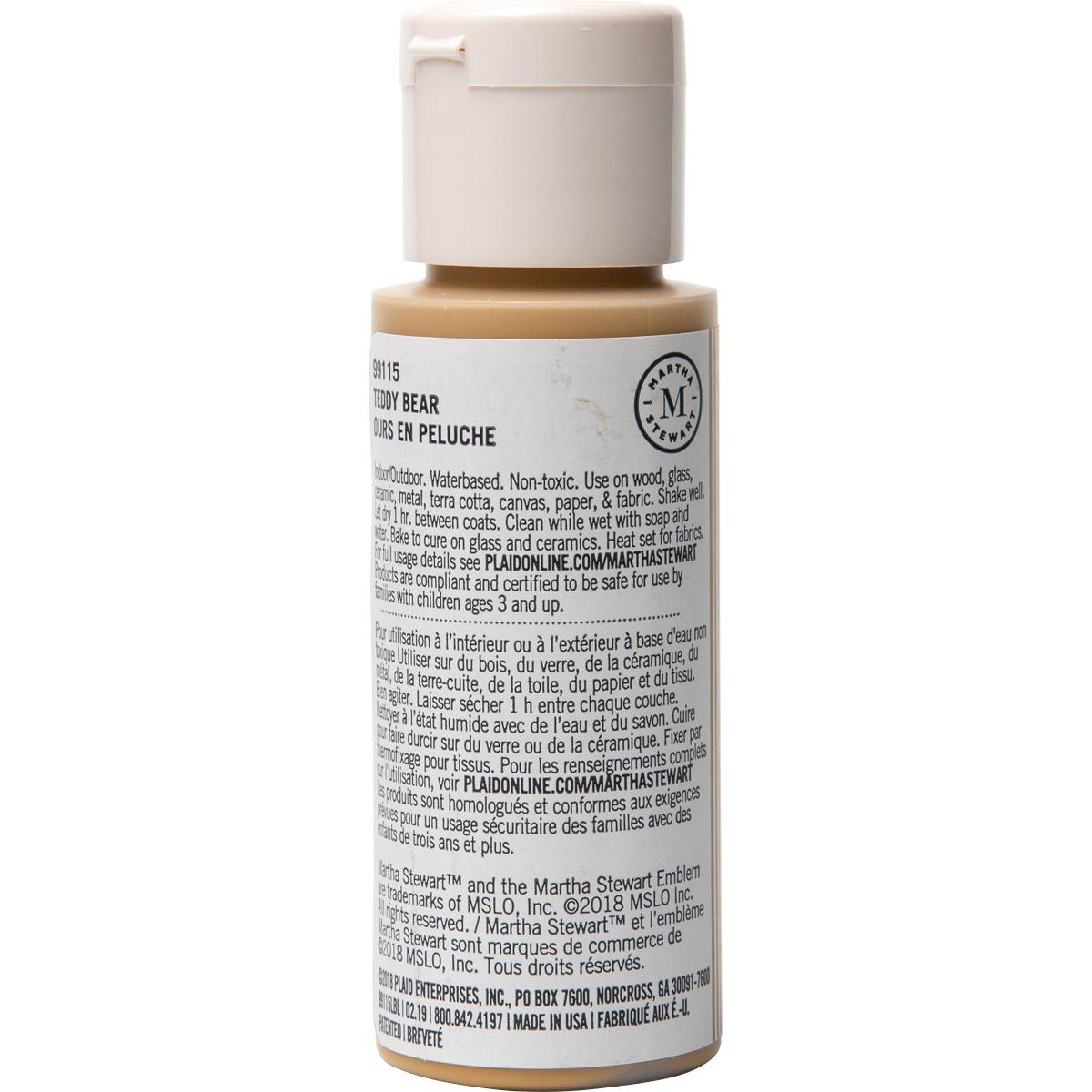 Martha Stewart ® Multi-Surface Satin Acrylic Craft Paint CPSIA - Teddy Bear, 2 oz. - 99115
