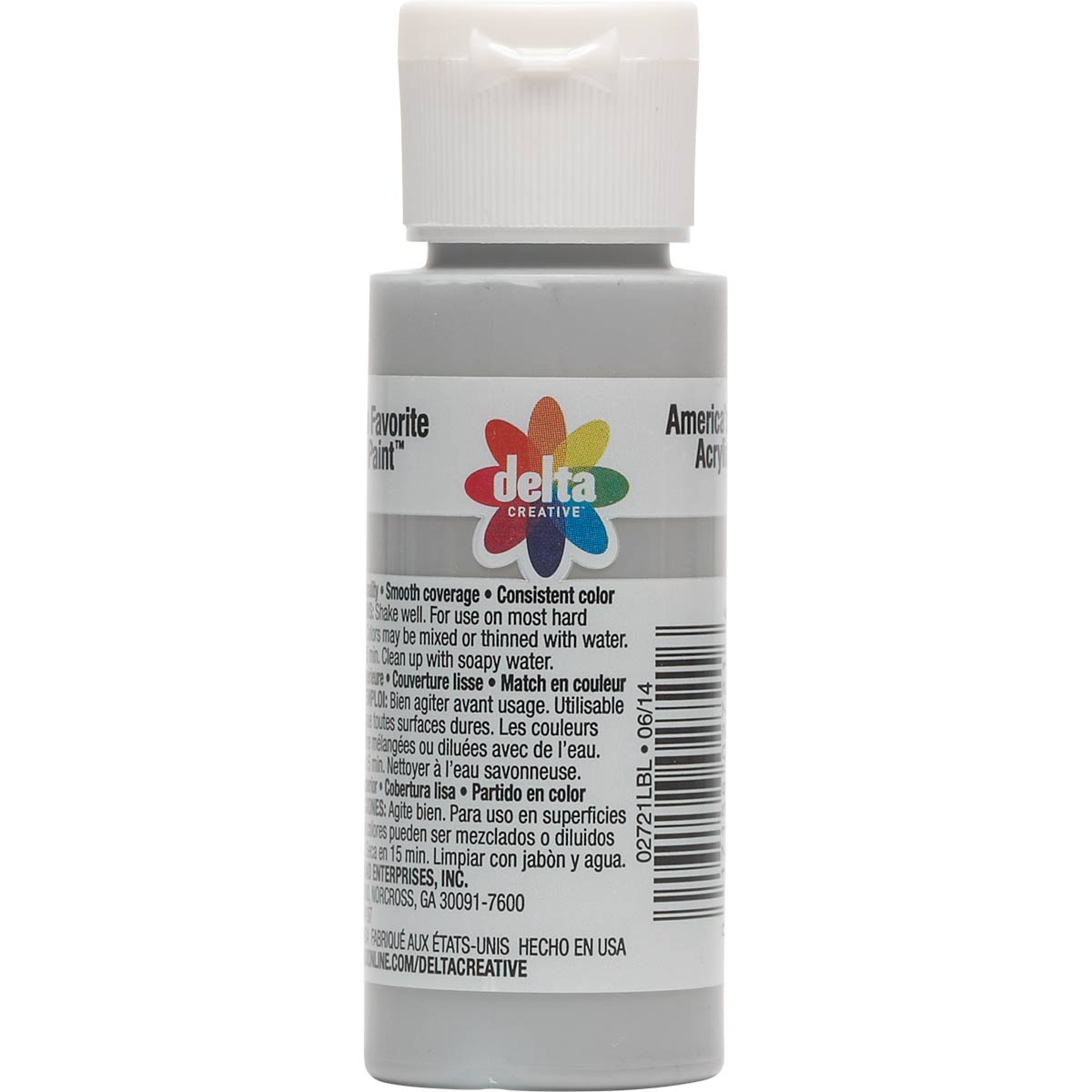 Delta Ceramcoat ® Acrylic Paint - Cableknit Gray, 2 oz.