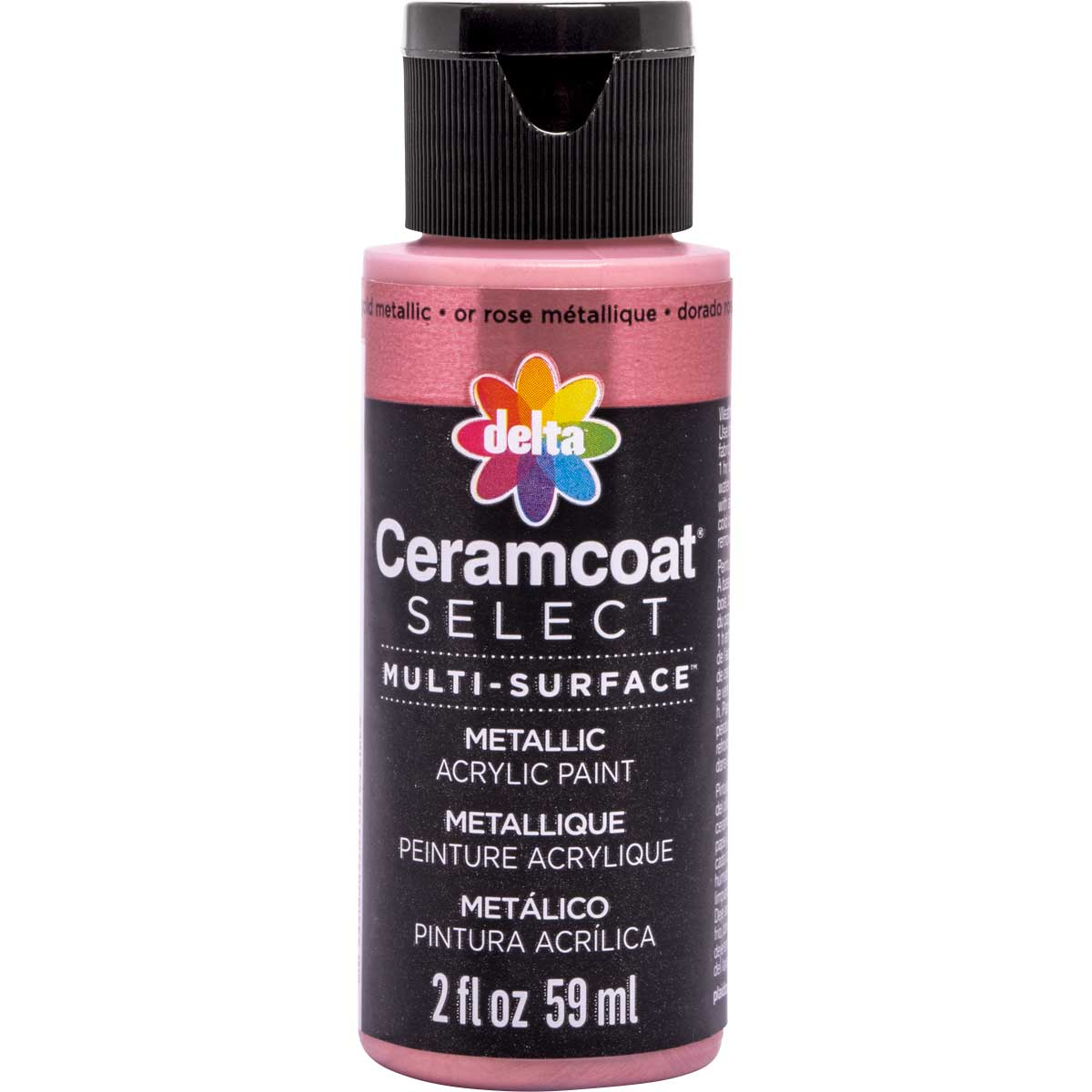 Delta Ceramcoat ® Select Multi-Surface Acrylic Paint - Metallic - Rose Gold, 2 oz. - 04111