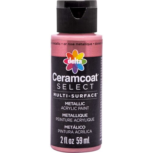 Delta Ceramcoat ® Select Multi-Surface Acrylic Paint - Metallic - Rose Gold, 2 oz. - 04111