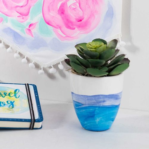 Watercolor Acrylic Ceramic Cup