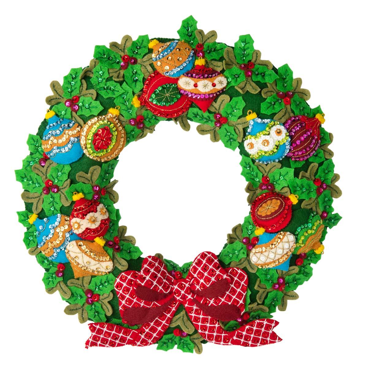 Bucilla ® Seasonal - Felt - Home Decor - Ornament Wreath - 89297E