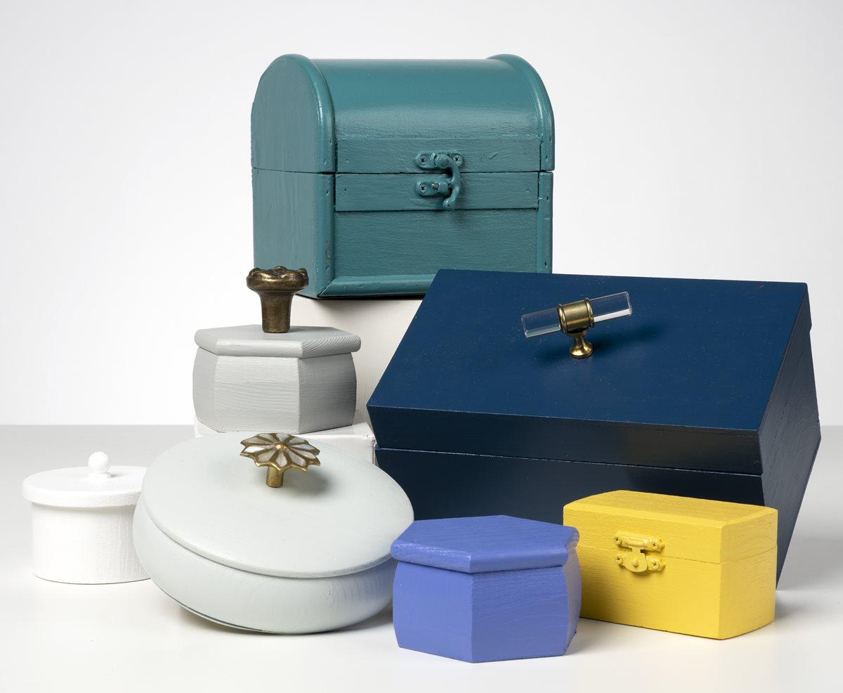 FolkArt One Decor Trinket Boxes