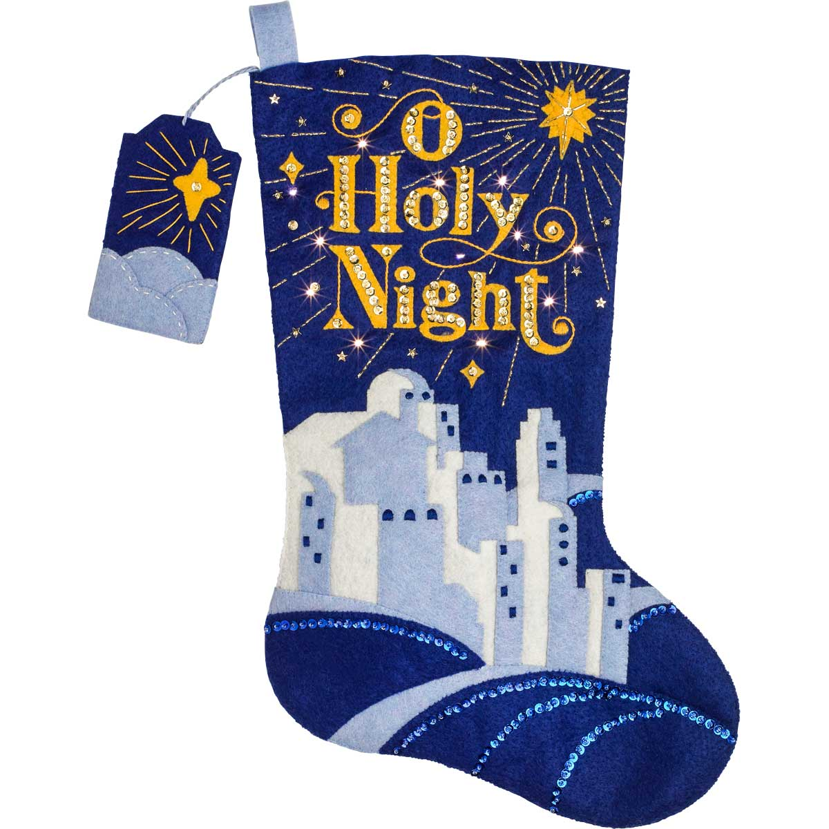 Bucilla ® Seasonal - Felt - Stocking Kits - DaySpring - O Holy Night with Lights - 86888E
