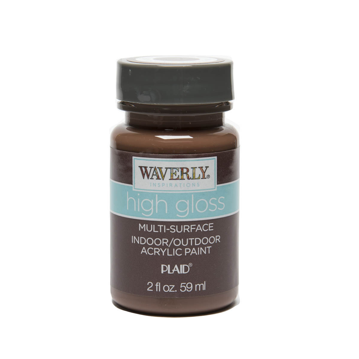 Waverly ® Inspirations High Gloss Multi-Surface Acrylic Paint - Chocolate, 2 oz. - 60692E