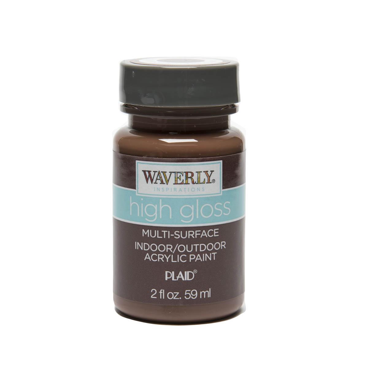 Waverly ® Inspirations High Gloss Multi-Surface Acrylic Paint - Chocolate, 2 oz.