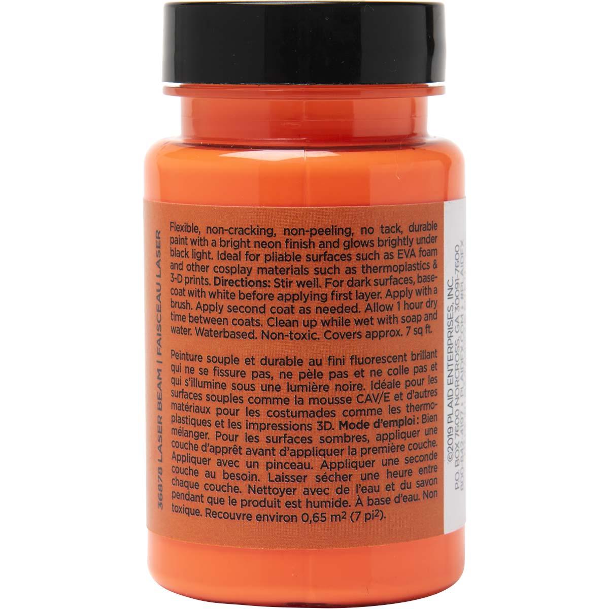 PlaidFX Nuclear Neon Flexible Acrylic Paint - Laser Beam, 3 oz. - 36878