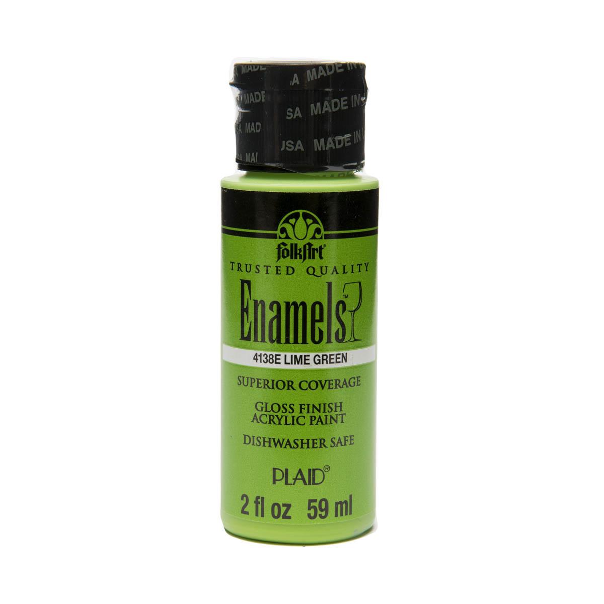 FolkArt ® Enamels™ - Lime Green, 2 oz. - 4138