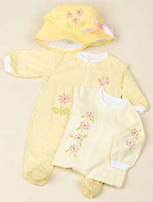 Floral Accents Infant Set