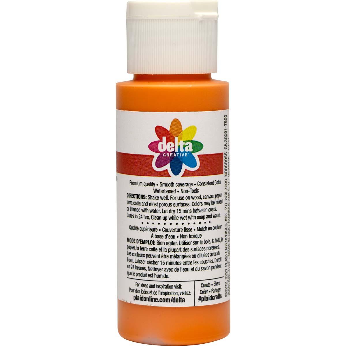 Delta Ceramcoat Acrylic Paint - Amber Glow, 2 oz. - 03199