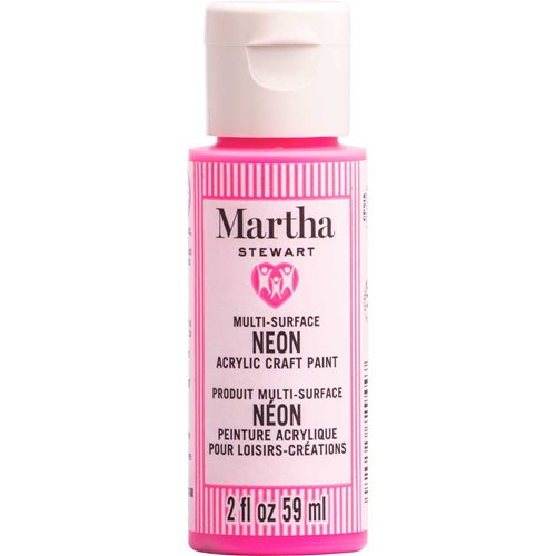 Martha Stewart ® Multi-Surface Neon Acrylic Craft Paint CPSIA - Pink Pinata, 2 oz. - 72944