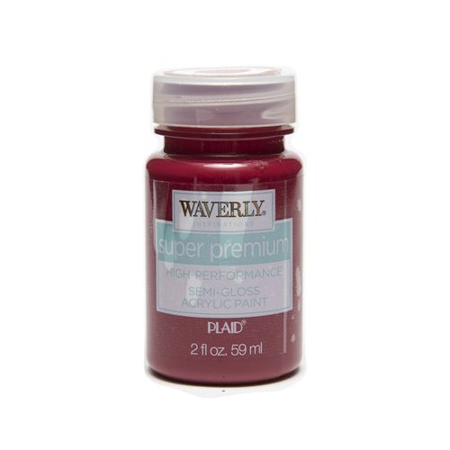 Waverly ® Inspirations Super Premium Semi-Gloss Acrylic Paint - Crimson, 2 oz.