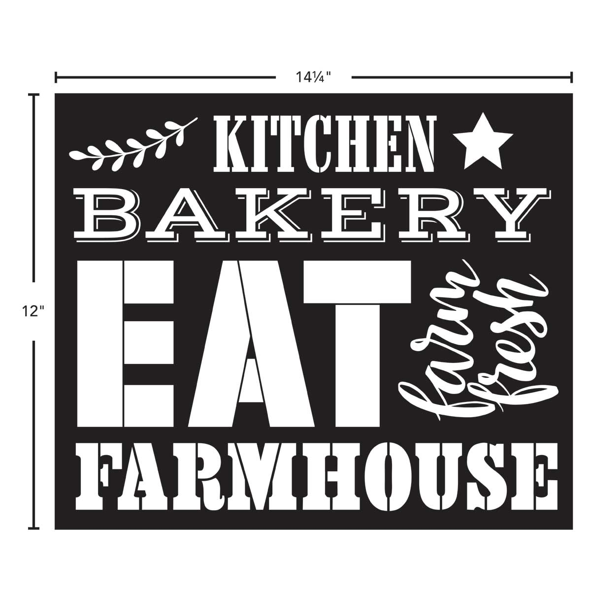 FolkArt ® Painting Stencils - Sign Making - Farmhouse