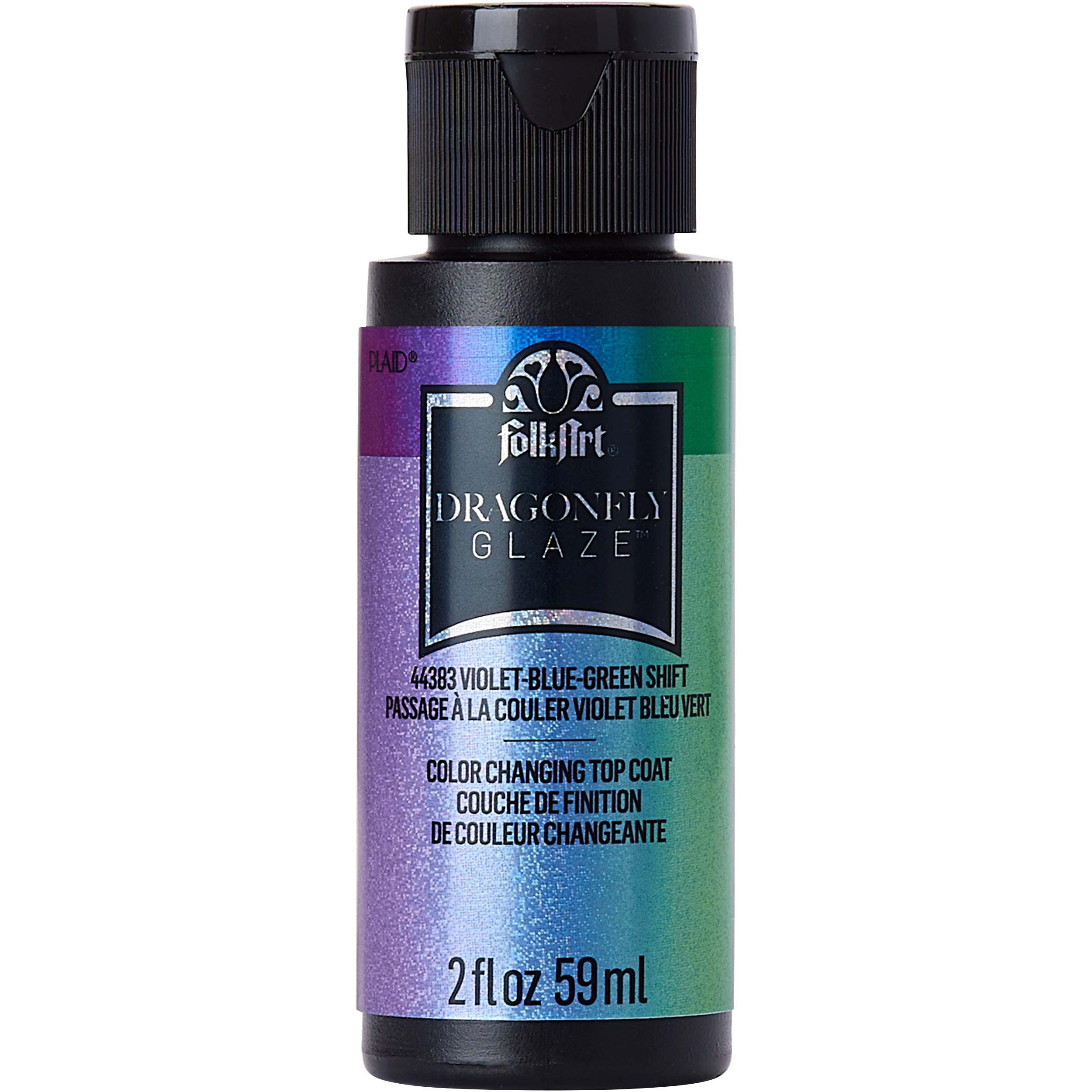 FolkArt ® Dragonfly Glaze™ - Violet-Blue-Green, 2 oz.