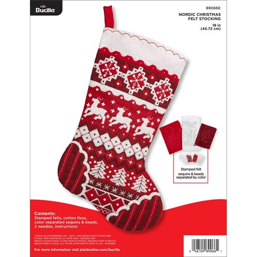 Bucilla ® Seasonal - Felt - Stocking Kits - Nordic Christmas - 89066E