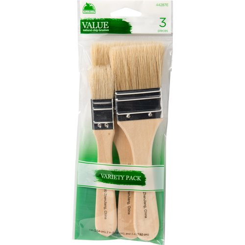 Plaid ® Brush Sets - Natural Bristle Chip Set