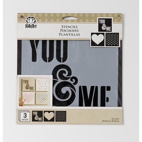 FolkArt ® Craft Stencils - Value Packs - You & Me