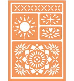 FolkArt ® Handmade Charlotte™ Peel & Stick Painting Stencils - Bohemian - 30896