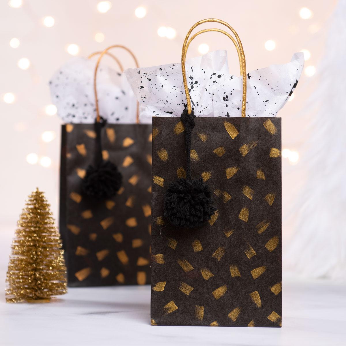 Treasure Gold Brush Stroke Gift Bags