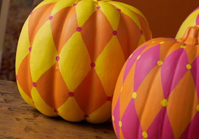 Harlequin Pumpkin Trio