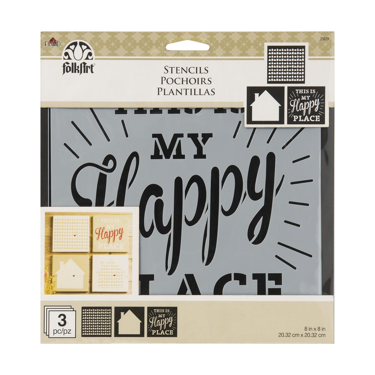 FolkArt ® Craft Stencils - Value Packs - Home Sweet Home - 25619