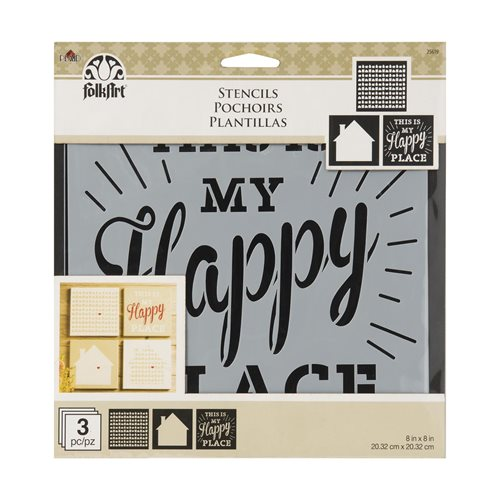 FolkArt ® Craft Stencils - Value Packs - Home Sweet Home