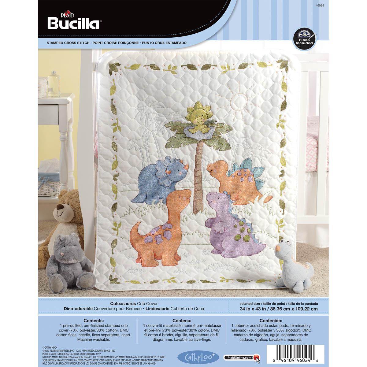 Shop Plaid Bucilla Baby Stamped Cross Stitch Crib Ensembles