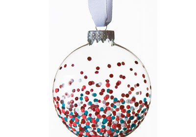 Glass Confetti Ornament