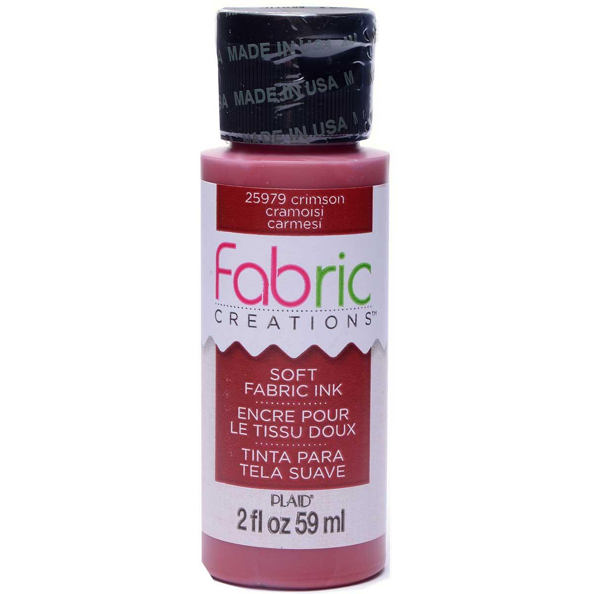 Fabric Creations™ Soft Fabric Inks - Crimson, 2 oz.