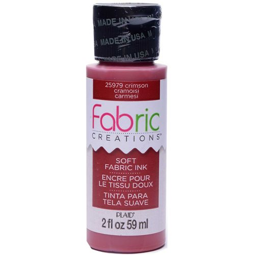 Fabric Creations™ Soft Fabric Inks - Crimson, 2 oz.