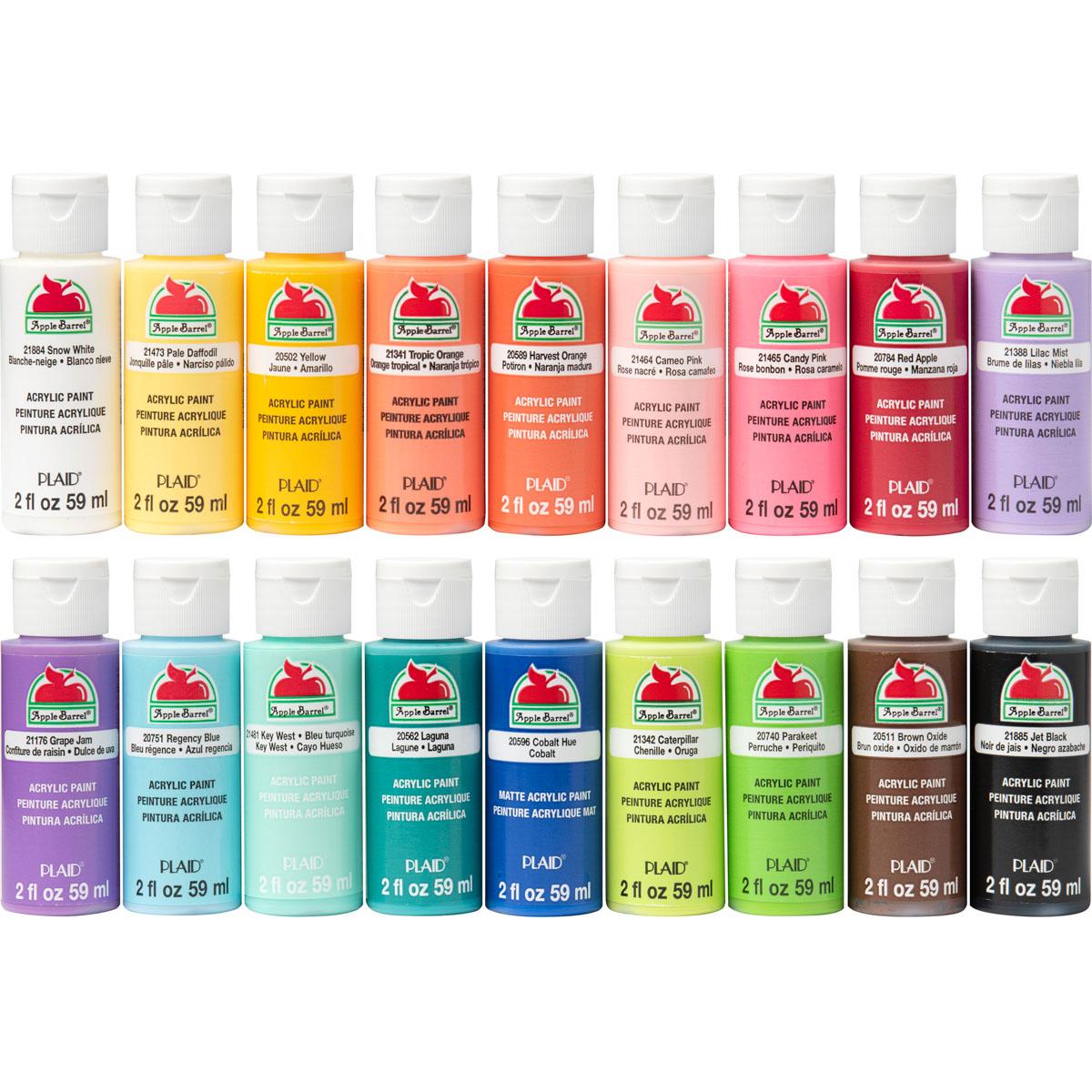 Apple Barrel ® Colors Acrylic Paint 18 Color Set - Trend Inspired - PROMOTCK