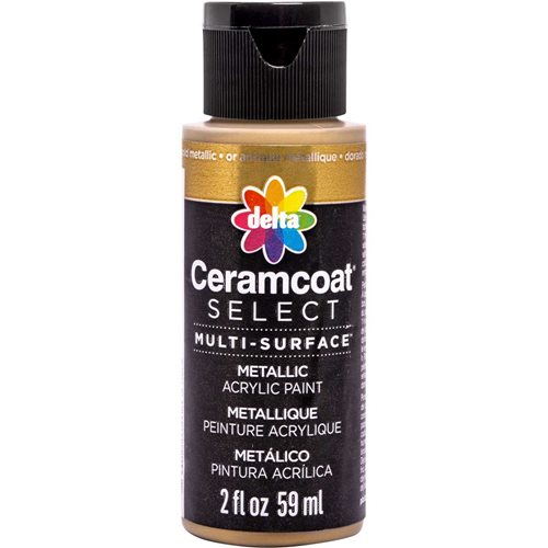 Delta Ceramcoat ® Select Multi-Surface Acrylic Paint - Metallic - Antique Gold, 2 oz.
