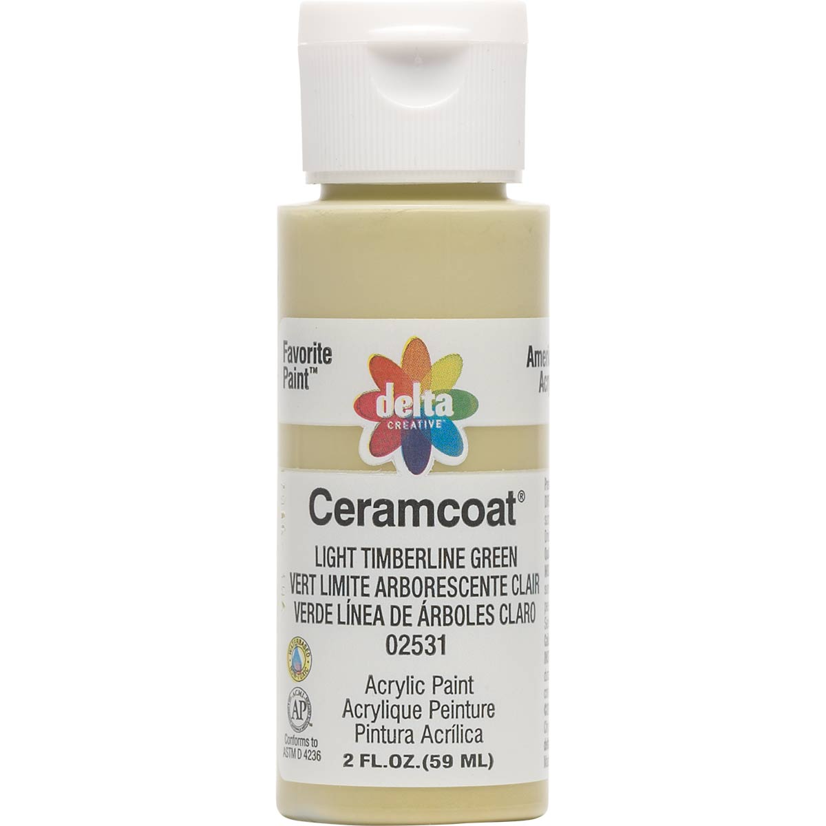 Delta Ceramcoat ® Acrylic Paint - Light Timberline Green, 2 oz.