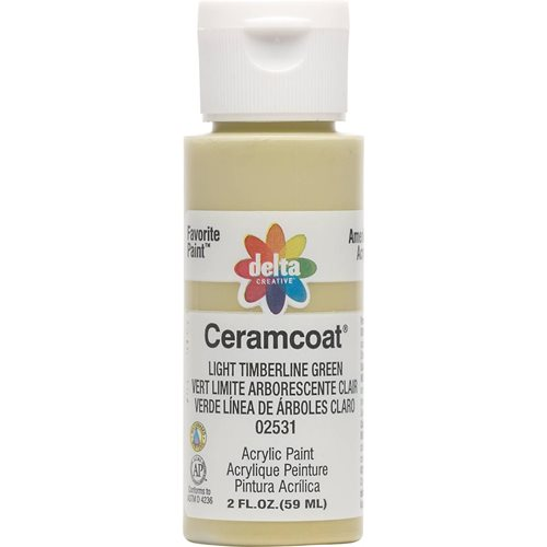Delta Ceramcoat ® Acrylic Paint - Light Timberline Green, 2 oz. - 025310202W