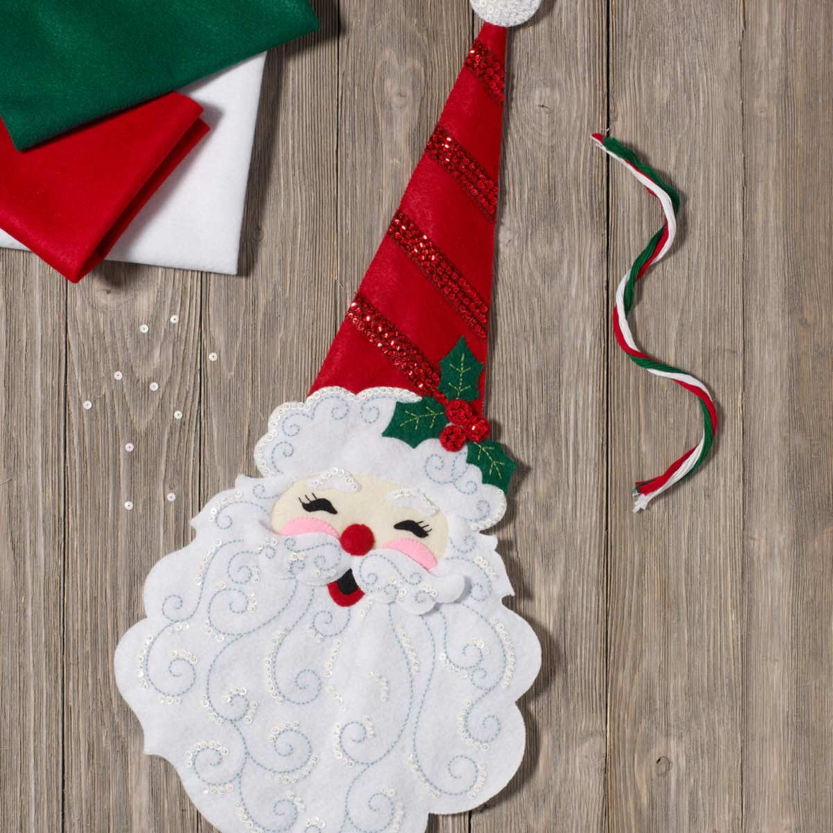 Bucilla ® Seasonal - Felt - Home Decor - Holly Jolly Santa Wall Hanging - 86834
