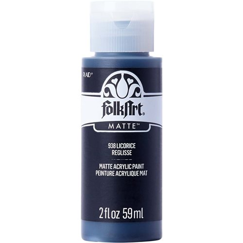 FolkArt ® Acrylic Colors - Licorice, 2 oz. - 938