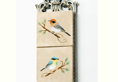 Vintage Inspired Bird Canvases