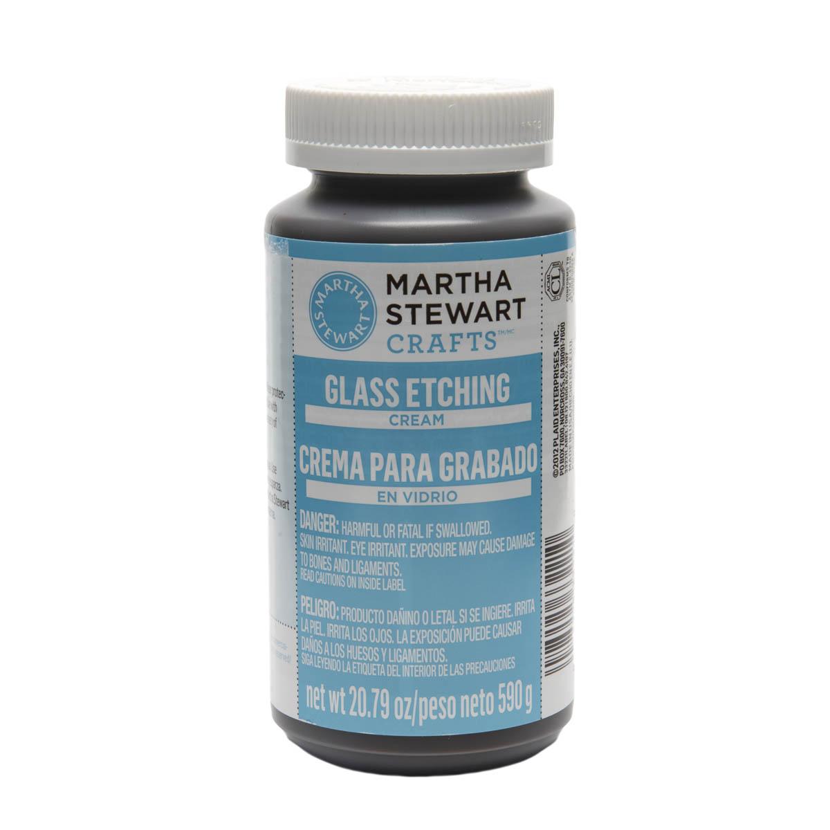 MARTHA STEWART GLASS ETCH CREAM 20.79 OZ NTWT (US)