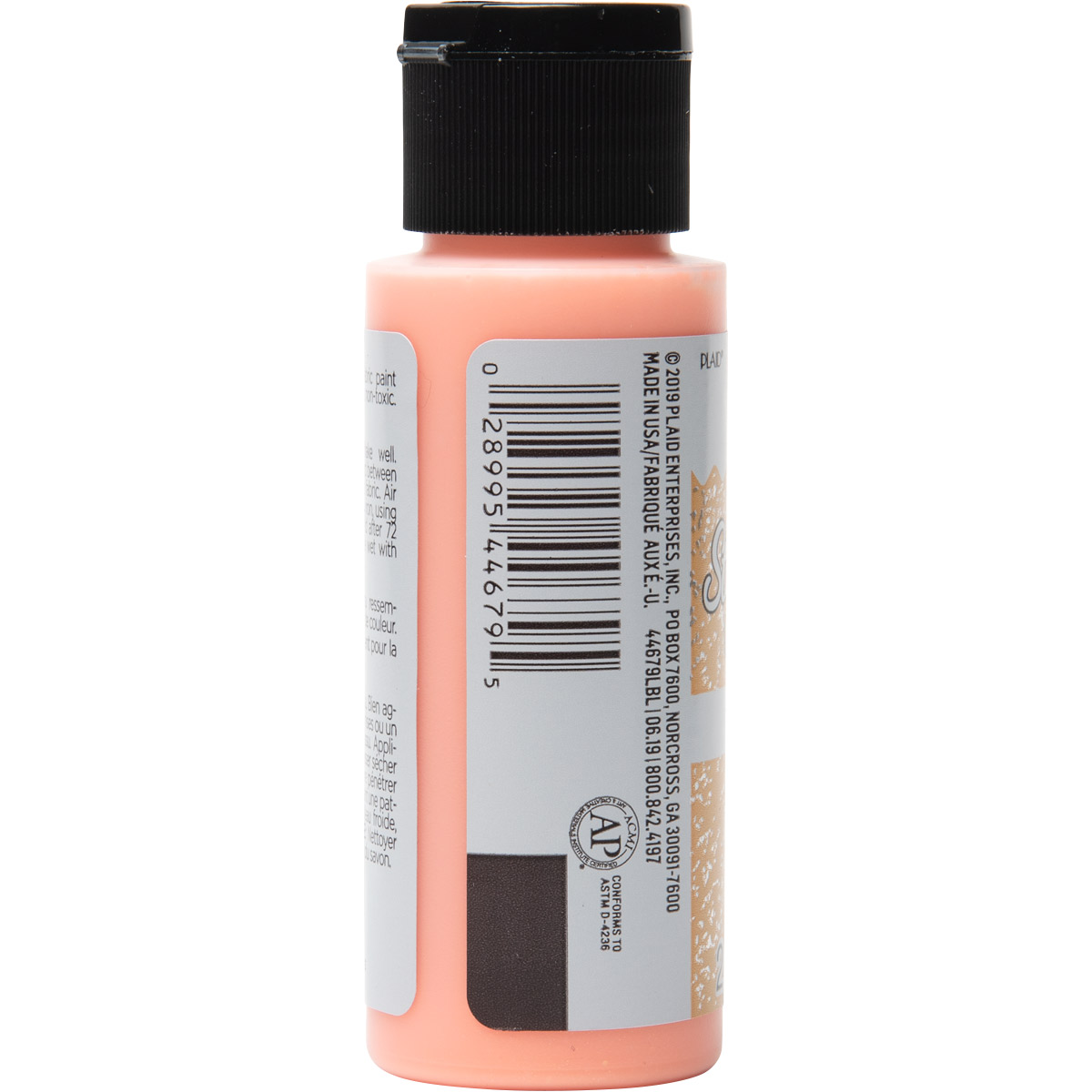Fabric Creations™ StarStruck Glitter™ Fabric Paint - Mango Ice, 2 oz. - 44679