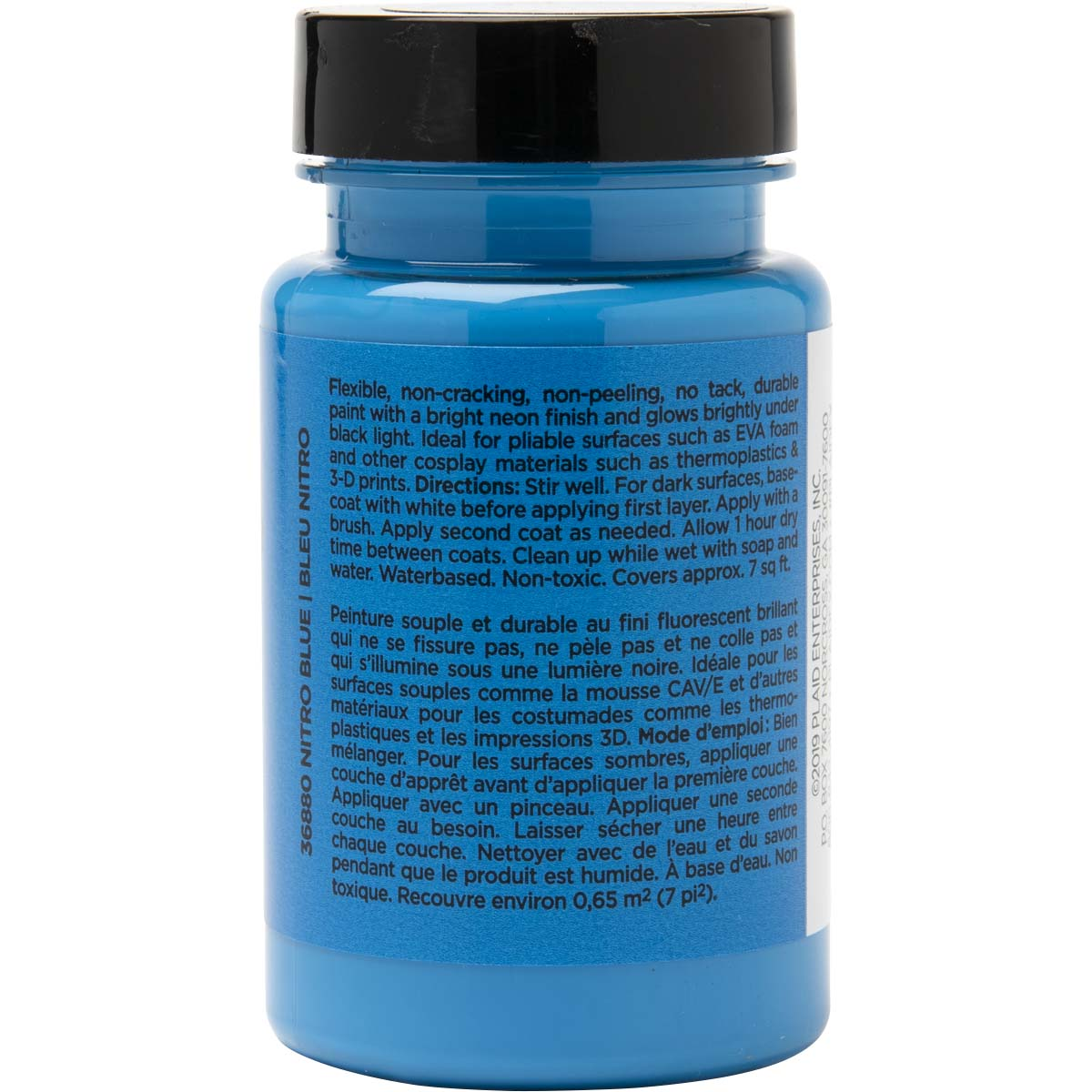 PlaidFX Nuclear Neon Flexible Acrylic Paint - Nitro Blue, 3 oz. - 36880