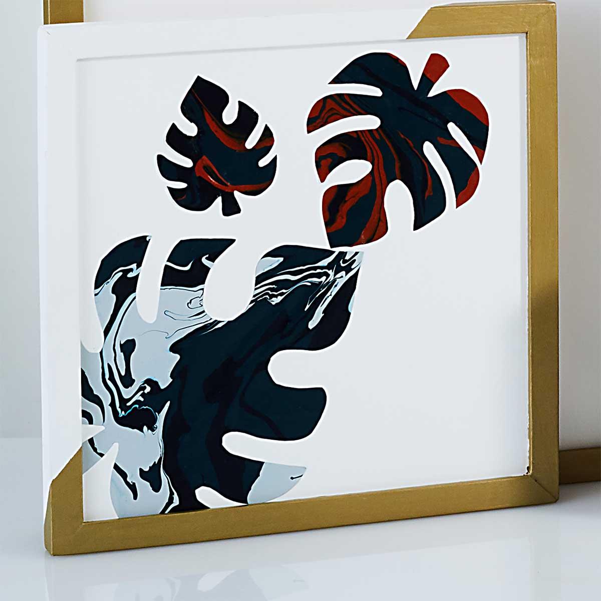 Abstract Art Monogram and Motif DIY Wall Decor