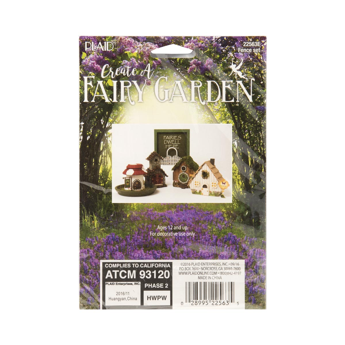 Plaid ® Wood Surfaces - Fairy Garden - Fence 2 pc.