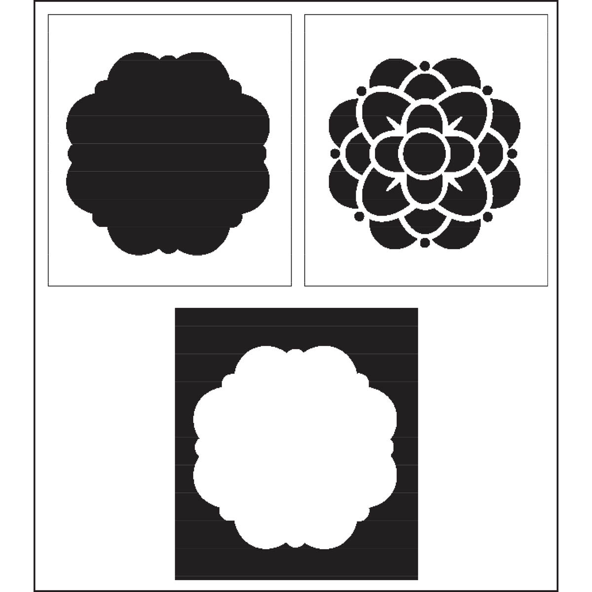 FolkArt ® Home Decor™ Layering Stencils - Flower
